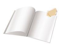 Molde da página em branco do compartimento para o projeto Fotografia de Stock