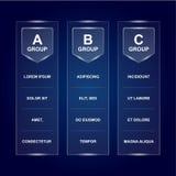 Molde da placa de tabela do grupo Apronte para o texto e projete As fases do grupo do campeonato do futebol projetam no fundo esc ilustração do vetor