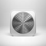 Molde da placa do ícone do App da tecnologia Ilustração Stock
