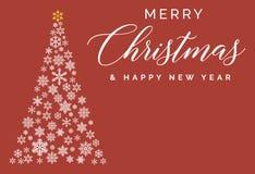 Molde da rotulação do Feliz Natal e do ano novo feliz Cartão ou convite Typograph relacionado dos feriados de inverno Fotos de Stock