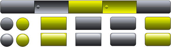 Molde da tecla do Web site Imagem de Stock