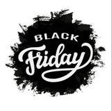 Molde da tipografia da venda de Black Friday Foto de Stock Royalty Free