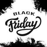 Molde da tipografia da venda de Black Friday Fotos de Stock Royalty Free