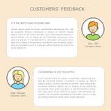 Molde da Web do feedback de clientes Fotos de Stock Royalty Free