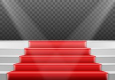 Molde das escadas do vetor escadas realísticas da fase do vencedor do vetor 3D Foto de Stock