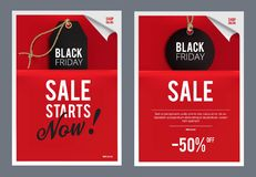 Molde das vendas de Black Friday Fotos de Stock Royalty Free