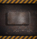 Molde de advertência do metal Imagem de Stock