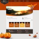 Molde de Autumn Theme Website Fotos de Stock Royalty Free