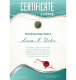 Molde de Certificatet Imagem de Stock