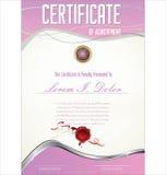 Molde de Certificatet Foto de Stock Royalty Free