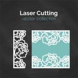 Molde de corte do laser Cartão para cortar Ilustração do entalhe ilustração stock