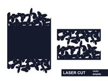 Molde de corte do laser das borboletas Imagens de Stock