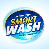 Molde de empacotamento do conceito do detergente para a roupa ilustração do vetor