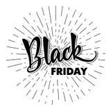 Molde de handlettering Black Friday Caligrafia moderna para ilustração royalty free