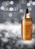 Molde de hidratação da garrafa do concentrado da essência do óleo para anúncios Fotos de Stock