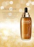 Molde de hidratação da garrafa do concentrado da essência do óleo para anúncios Imagem de Stock Royalty Free
