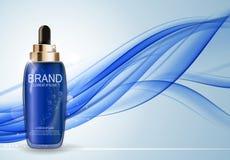 Molde de hidratação da garrafa do concentrado da essência do óleo para anúncios Fotografia de Stock