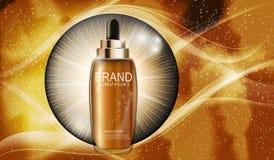 Molde de hidratação da garrafa do concentrado da essência do óleo para anúncios Imagem de Stock