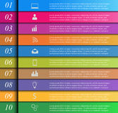 Molde de Infographic Fotos de Stock Royalty Free