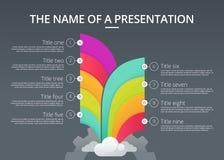 Molde de Infographic imagem de stock