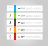 Molde de Infographic, bandeiras Foto de Stock Royalty Free