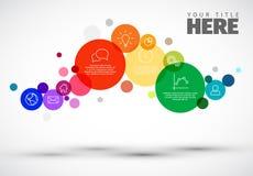 Molde de Infographic com círculos Foto de Stock