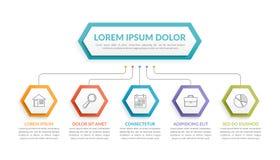 Molde de Infographic com 5 etapas ilustração royalty free