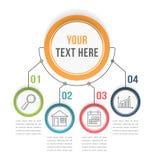 Molde de Infographic com quatro etapas ilustração royalty free