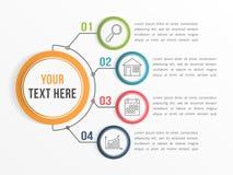 Molde de Infographic com quatro opções ilustração stock