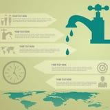 Molde de Infographic da conservação de água Fotografia de Stock Royalty Free