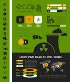 Molde de Infographic da ecologia Imagem de Stock Royalty Free