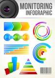 Molde de Infographic da monitoração ilustração stock