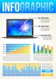 Molde de Infographic da tecnologia ilustração do vetor