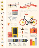 Molde de Infographic do curso Fotografia de Stock Royalty Free