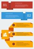Molde de Infographic do estilo do origâmi Foto de Stock