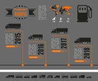 Molde de Infographic do transporte Fotos de Stock Royalty Free