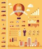 Molde de Infographic do transporte Fotos de Stock