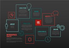 Molde de Infographic do vetor com blocos Imagens de Stock