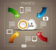 Molde de Infographic para o visualizat dos dados da estatística Foto de Stock