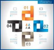 Molde de Infographic para o visualizat dos dados da estatística Fotografia de Stock Royalty Free