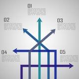 Molde de Infographic - setas Fotografia de Stock Royalty Free