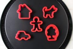 Molde de la empanada del juguete en fondo negro Fotografía de archivo libre de regalías