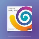 molde de tampa colorido abstrato com ilustração do vetor do fundo do conceito de projeto da composição da forma do inclinação Fotos de Stock