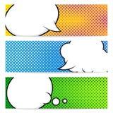 Molde de três bandeiras do pop art Imagem de Stock