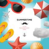 Molde de viagem do verão Foto de Stock Royalty Free