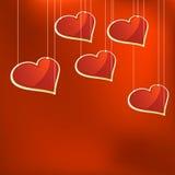 Molde de vidro dos corações. + EPS8 Fotografia de Stock Royalty Free