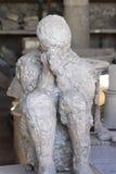 Molde de yeso de Roman Men - Pompeya asentados Fotografía de archivo