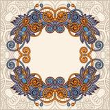 Molde decorativo com fundo floral Imagens de Stock Royalty Free