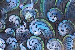 Molde decorativo do cimento do emplastro na parede exterior em Tailândia S Fotografia de Stock