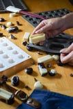 Molde del silicón para hacer forma del chocolate Foto de archivo